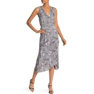 NWT Rachel Roy Floral Houndstooth Asymmetric Dress